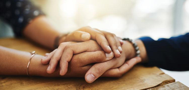 The Importance of human touch - holding hands